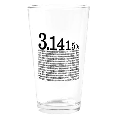 Pi Pint Glass