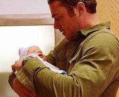 When He Held a Baby
