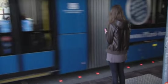 German Company Installs Lights Along Curbs For Pedestrians Glued To Their Phones
