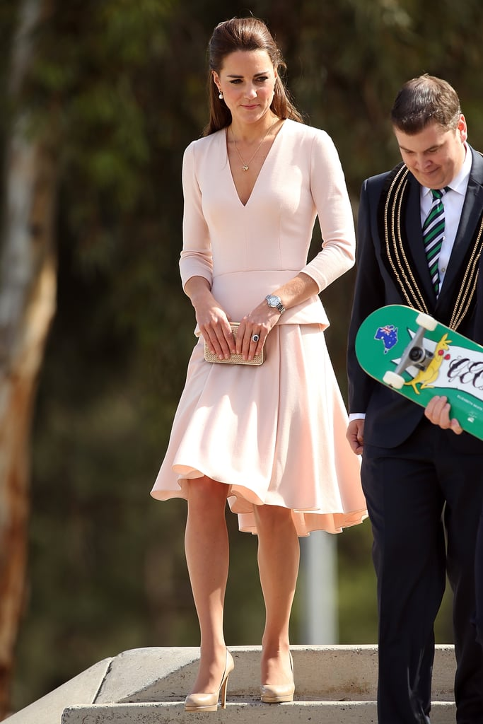 Kate Middleton in a Pink Skirt Suit