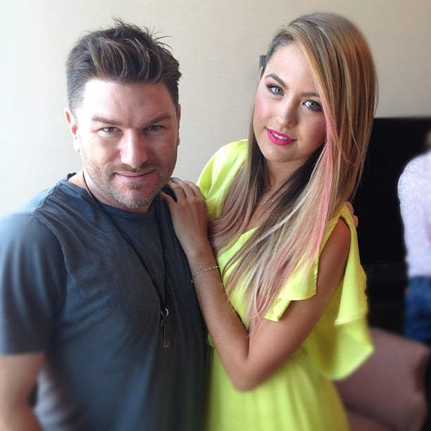 Jesinta Campbell got pink streaks in her hair for the ARIA Awards. Source: Instagram user jesinta_campbell