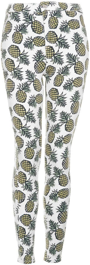 Topshop Pineapple-Print Pants