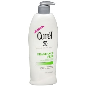 The cool thing about Curél's Fragrance Free Lotion ($9) is that it has a time-released formula that moisturizes all day. The result: your skin won't feel parched come lunch time.