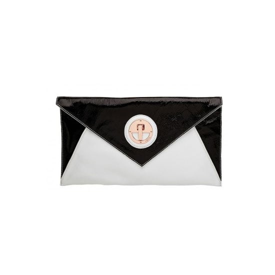 I'm in the middle of a deeply passionate love affair with envelope clutches. This two-tone goodie is perfect for a day at the races — sleek, chic and the perfect size for all my essentials. — Genevieve, associate editor Clutch, $229, Mimco