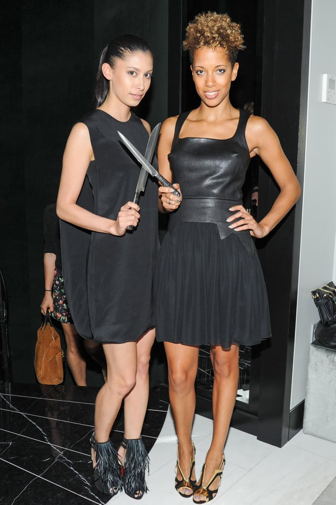 Michelle Ochs and Carly Cushnie at Swarovski and Fivestory's party for the 2013 CFDA Award nominees in New York. Source: Neil Rasmus/BFAnyc.com
