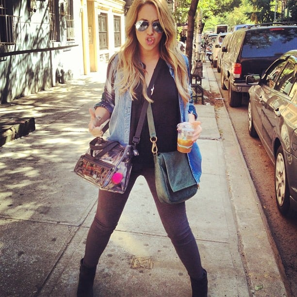 Haylie Duff had her gear ready to go for a photo shoot. Source: Instagram user haylieduff