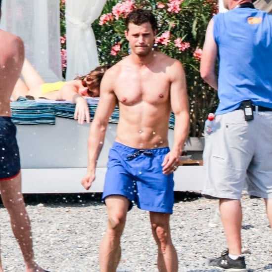 Jamie Dornan and Dakota Johnson on Beach in France Pictures