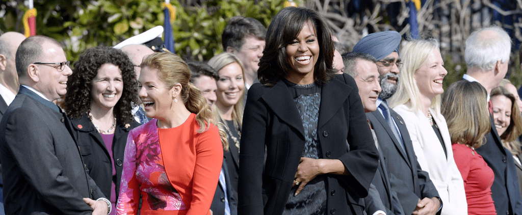 Michelle Obama's Deep-Green Dress Is So Mesmerizing, You Won't Be Able to Stop Staring