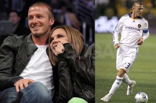 Photos of Victoria and David Beckham at the Galaxy Game
