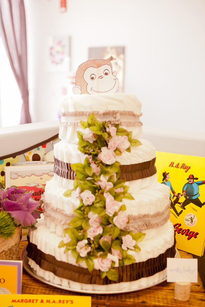 Curious George Diaper Cake