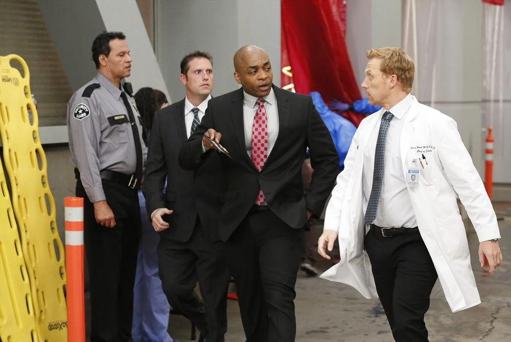 Worthy and Kevin McKidd get a good walk-and-talk in.