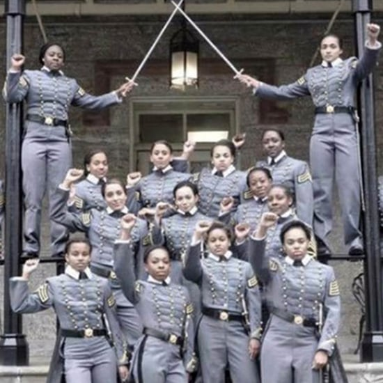 Black West Point Cadets With Raised Fists Photo (Video)