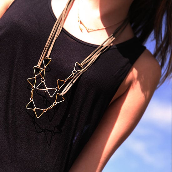 DIY Gold and Leather Necklace | Video