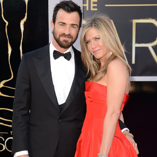 Justin Theroux's Instagram of Jennifer Aniston's Dress