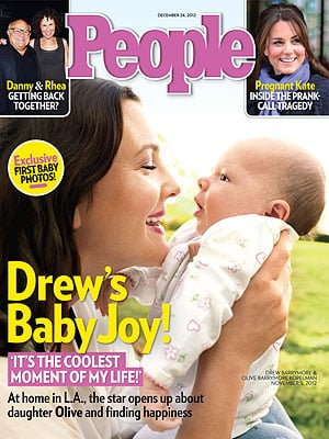 Drew Barrymore introduced baby Olive to the world on the cover of People magazine.