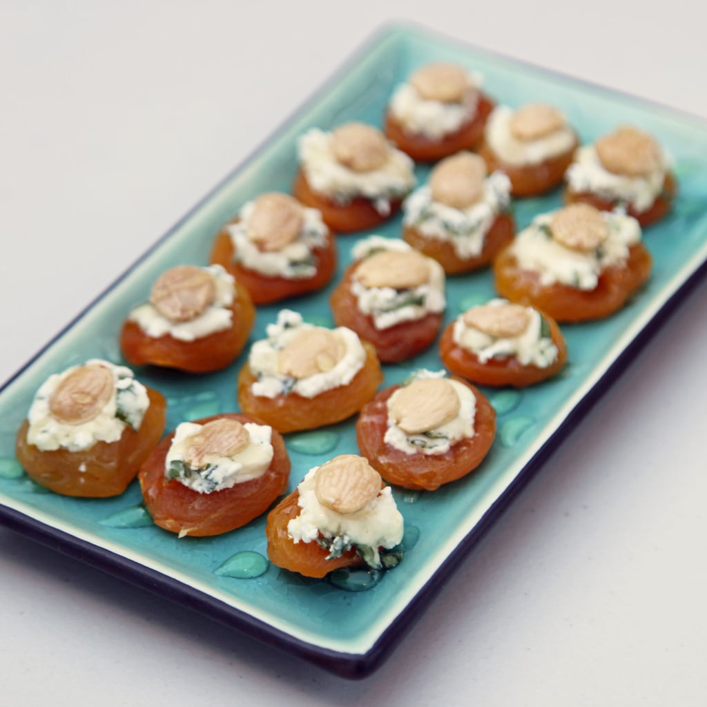 Apricot, Almond, and Goat Cheese Bites