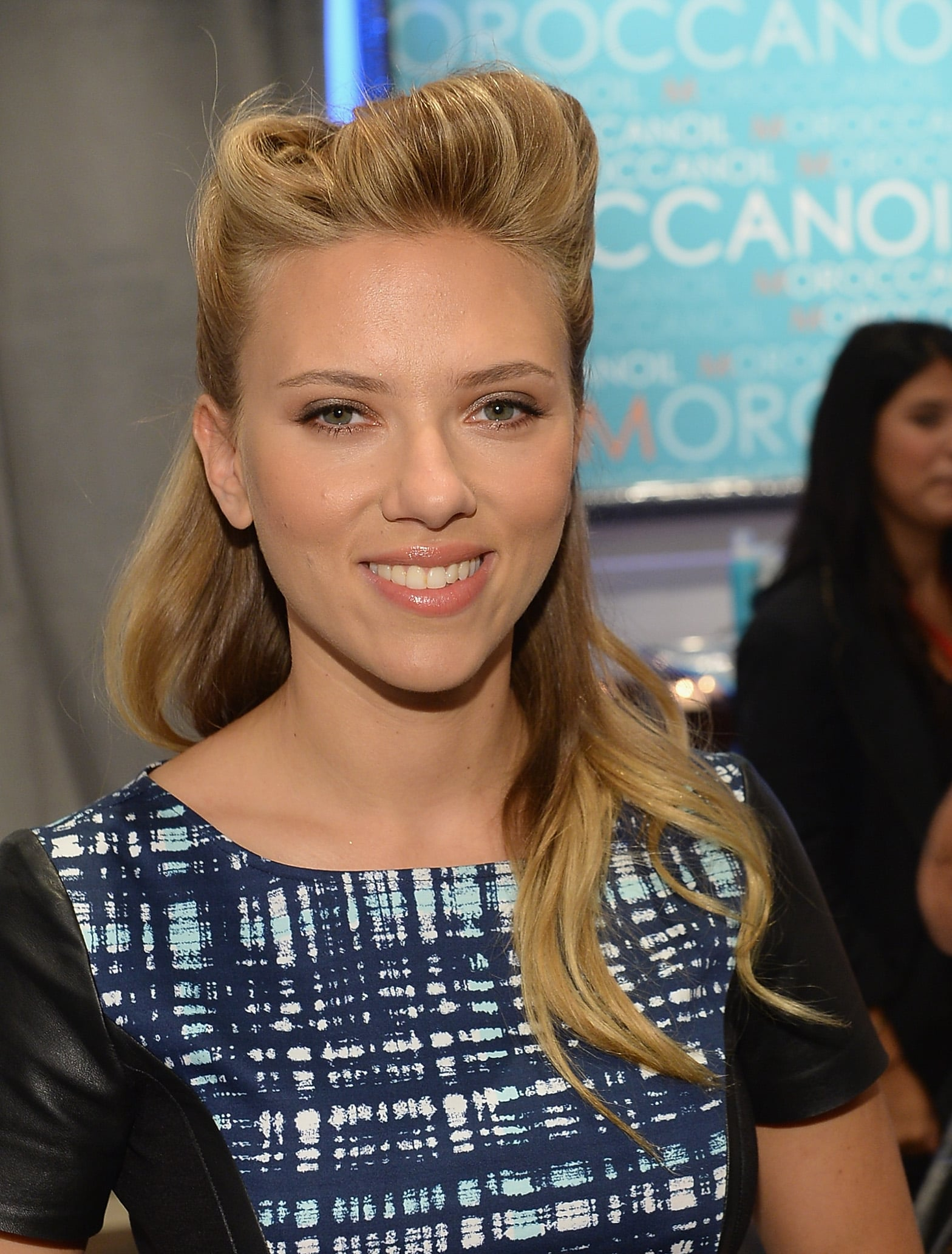 We love Scarlett Johansson's modern take on victory rolls at the Variety Studio.