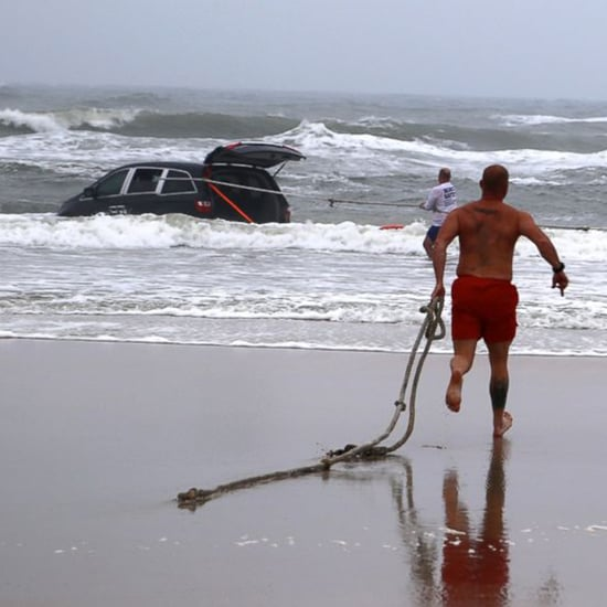 Mother Drives Car Into the Ocean