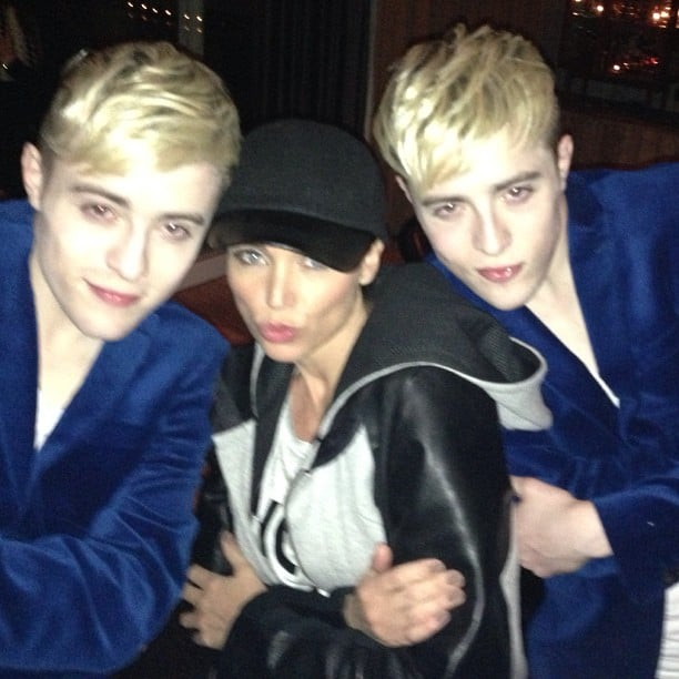 Dannii Minogue and Jedward did their best Zoolander faces. Source: Instagram user danniiminogue