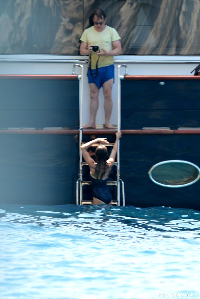 Matthew Broderick snapped photos of wife Sarah Jessica Parker as they vacationed in Greece in August.