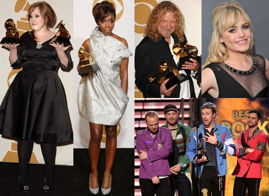 Photos of All the British Winners at the Grammy Awards 2009 Including Adele, Duffy, Estelle, Coldplay and Robert Plant