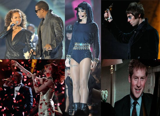 Photos from the 2010 Brit Awards Show Including Robbie Williams, Lady GaGa, Jay-Z, Alicia Keys, Lily Allen, Cheryl Cole,