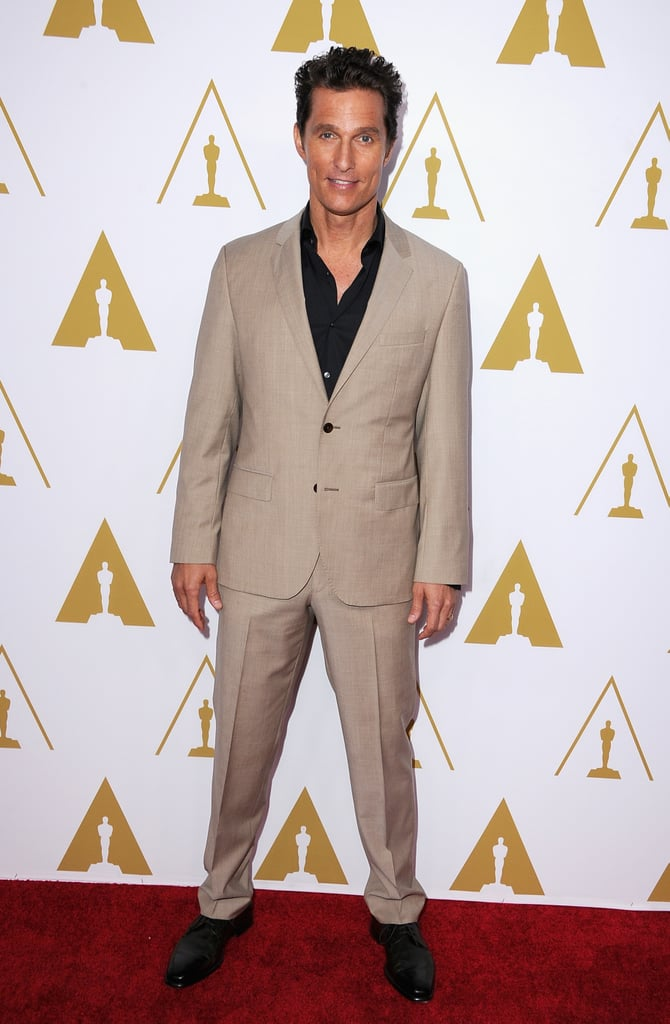 Matthew McConaughey was among the many nominees to make an appearance at the luncheon.