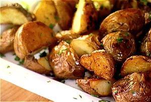 Birthday Dinner Side: Garlic Roast Potatoes