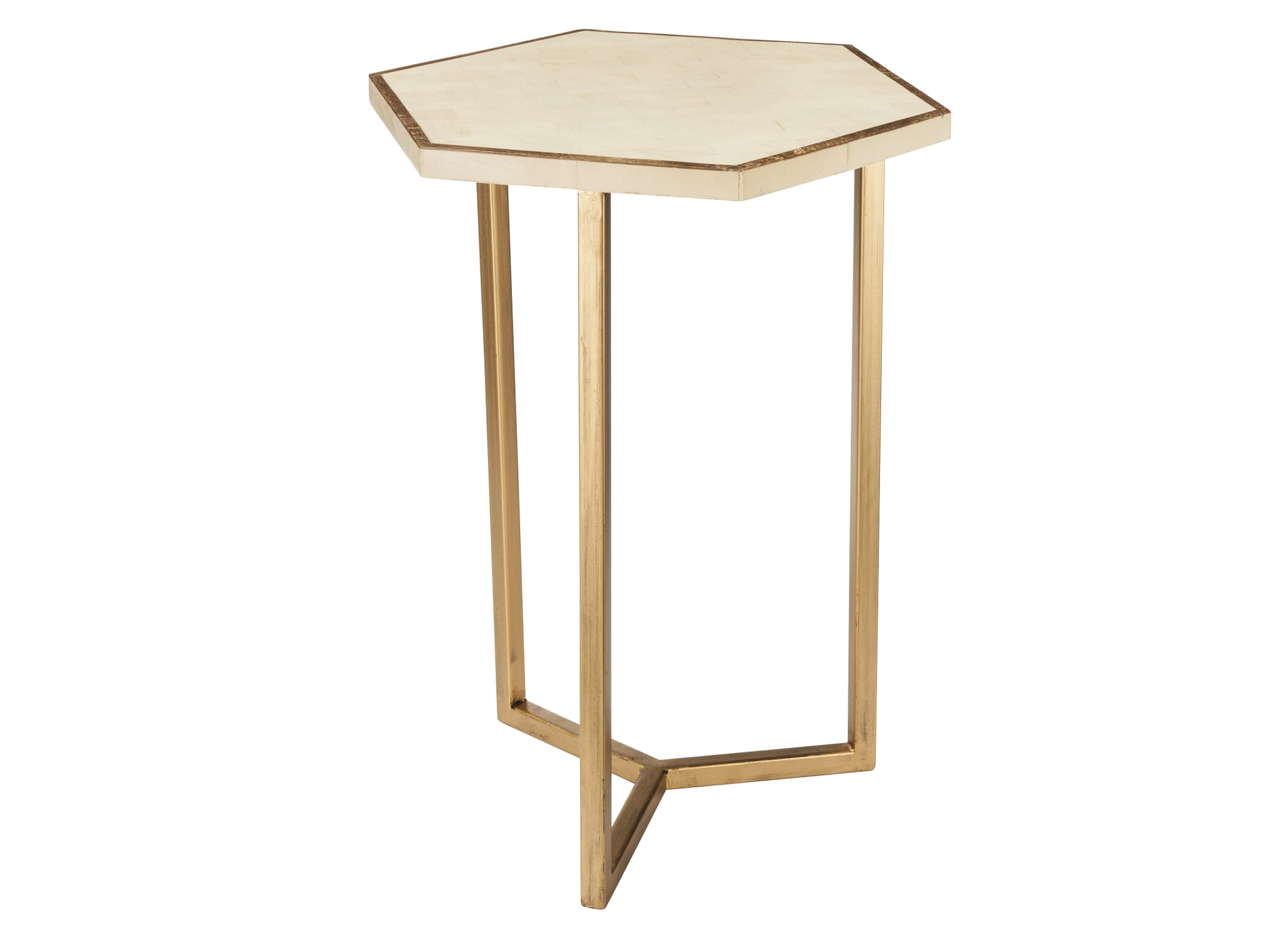 Faux shell makes this table ($70) appear much more expensive than it really is.