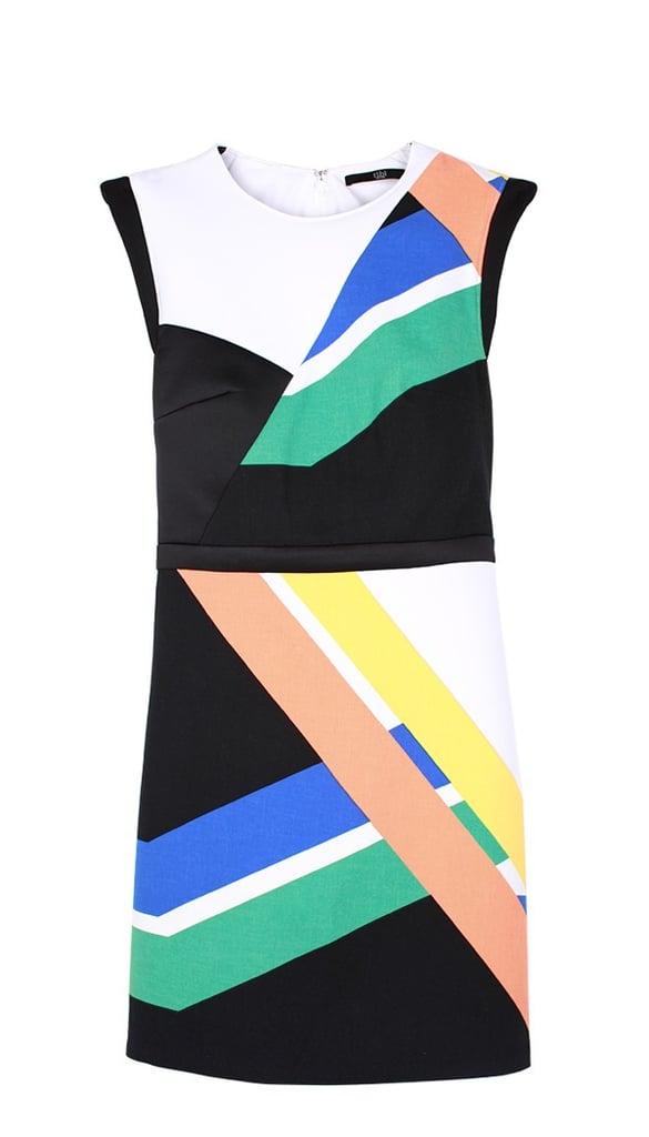 Show your NYC love — Tibi's Amy Smilovic designed the graphic lines on this dress ($450) after being inspired by the bright colors on a subway map.