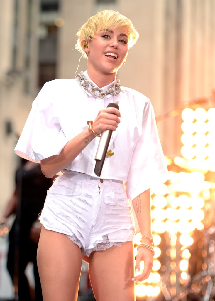 "Miley Cyrus drew a large crowd of fans when she performed on Today in NYC on Oct. 7. In an interview with the hosts, the singer also put an official end to her feud with Sinead O'Connor, saying, ""It's all good,"" and adding that she really respects her as an artist. She also said that she's the happiest she's ever been in her ""whole life,"" despite all the controversy over her new look."