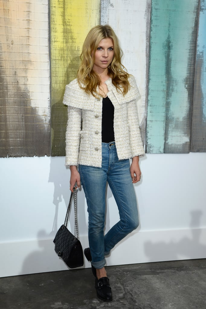 Clémence Poesy wore jeans to Chanel.