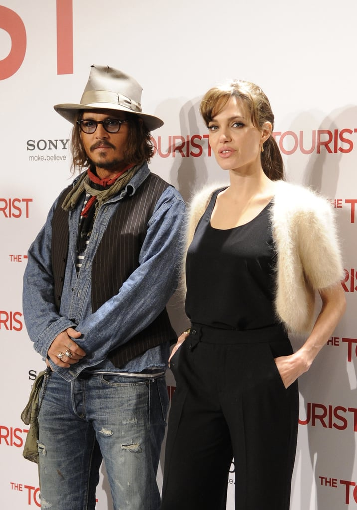 Angelina Jolie and Johnny Depp Keep Their Distance in Madrid