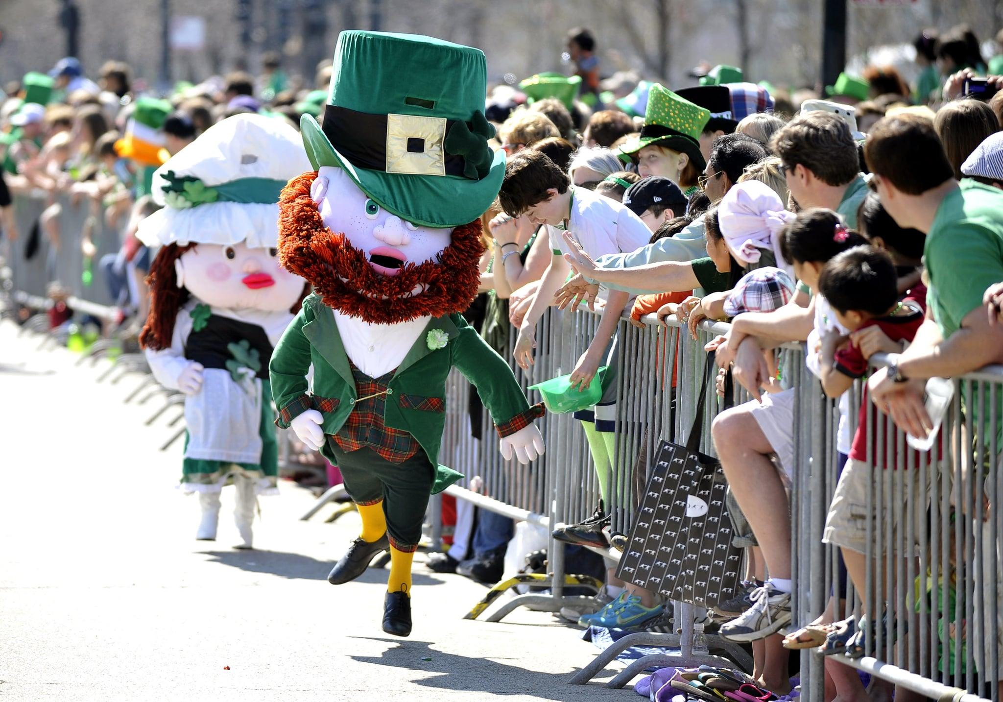 And leprechaun mascots.