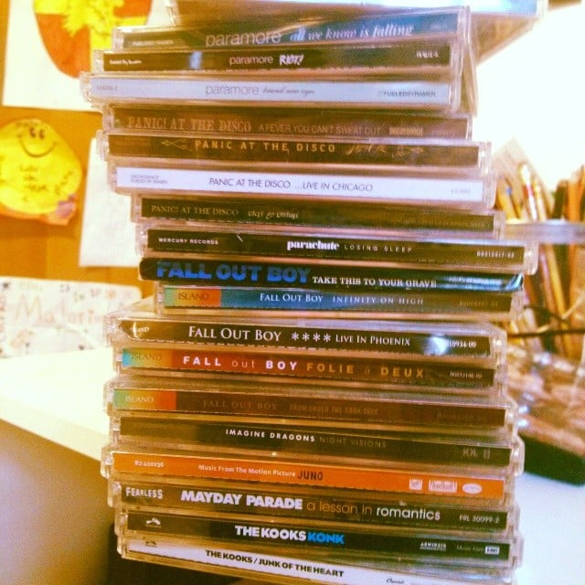 Get rid of those jewel cases and digitize your CDs.  Source: Instagram user magicmalori2825