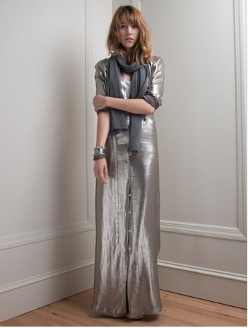 Slinky Metallic Lamé Lights Up Holiday Dressing