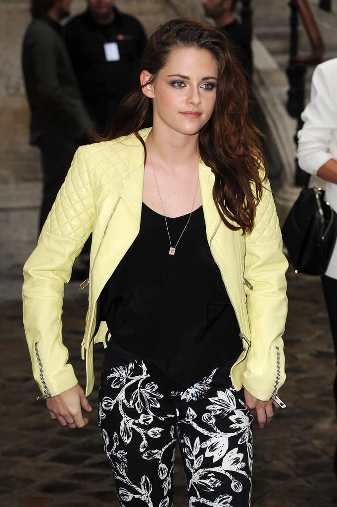 Kristen Stewart was in attendance for Balenciaga's Fashion Week runway presentation in Paris.