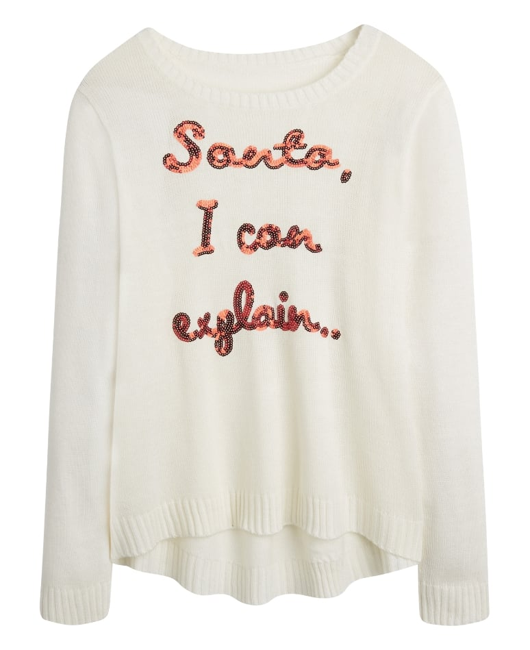 Santa I Can Explain Sweater ($48)