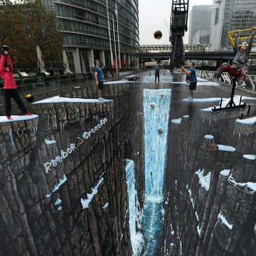 Guinness Book of World Records Reebok Street Art