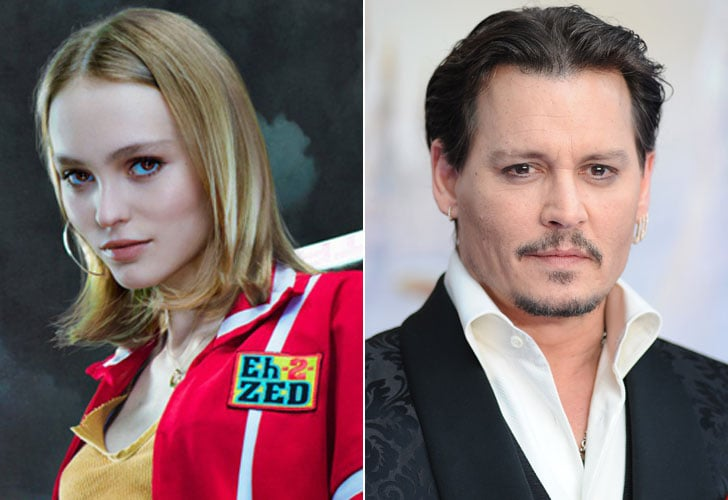 Lily-Rose and Johnny Depp