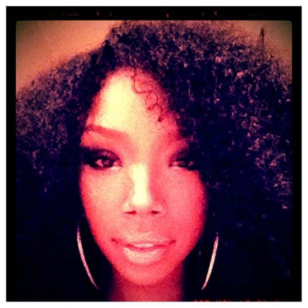 Brandy showed off her new curly hairstyle.  Source: Instagram user 4everbrandy