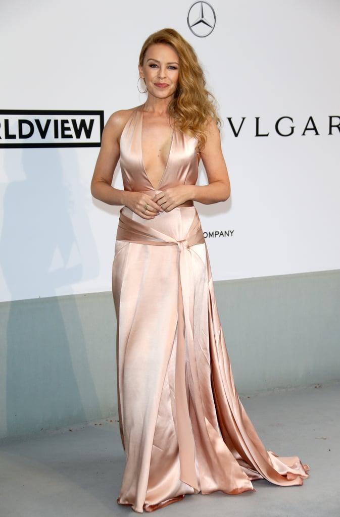 Kylie Minogue showed her support for amfAR.