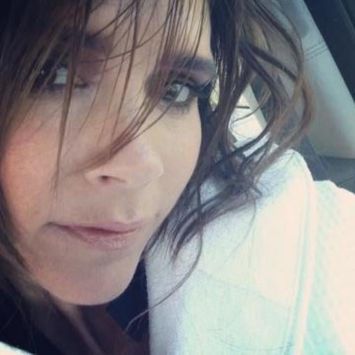 Victoria Beckham shared a photo while on the set, hinting at a potential haircut. Source: Instagram user victoriabeckham