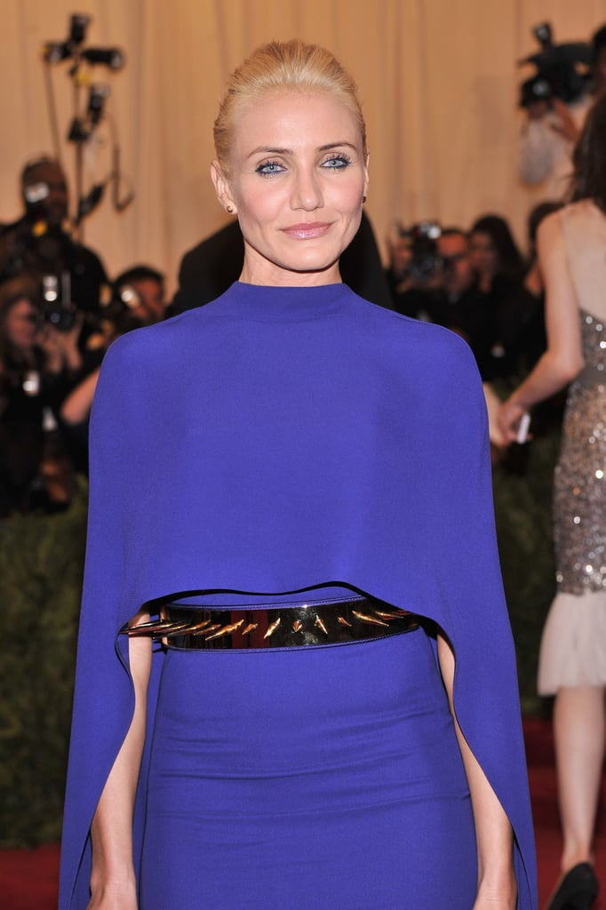 Cameron Diaz played up the punk vibe with a spiked belt.