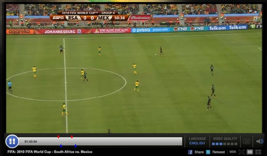 Watch World Cup 2010 Online Streaming