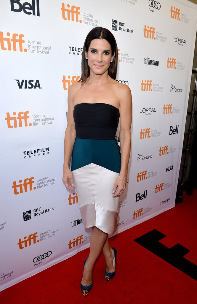 Sandra Bullock in Narciso Rodriguez at the Toronto Film Festival