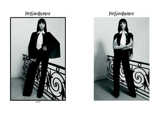 Photos of Daria Werbowy for Yves Saint Laurent Autumn 2010