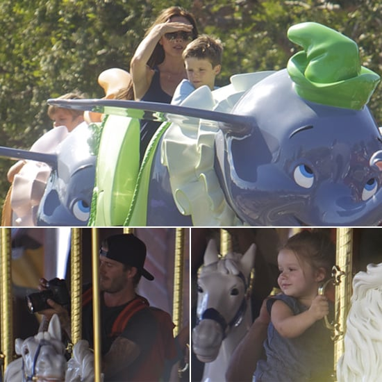 Yesterday, Victoria and David Beckham took their tots to Disneyland for an afternoon filled with Dumbo, merry-go-round rides, snacks, and more. It wasn't the brood's first visit to the Happiest Place on Earth — they've visited several times before.