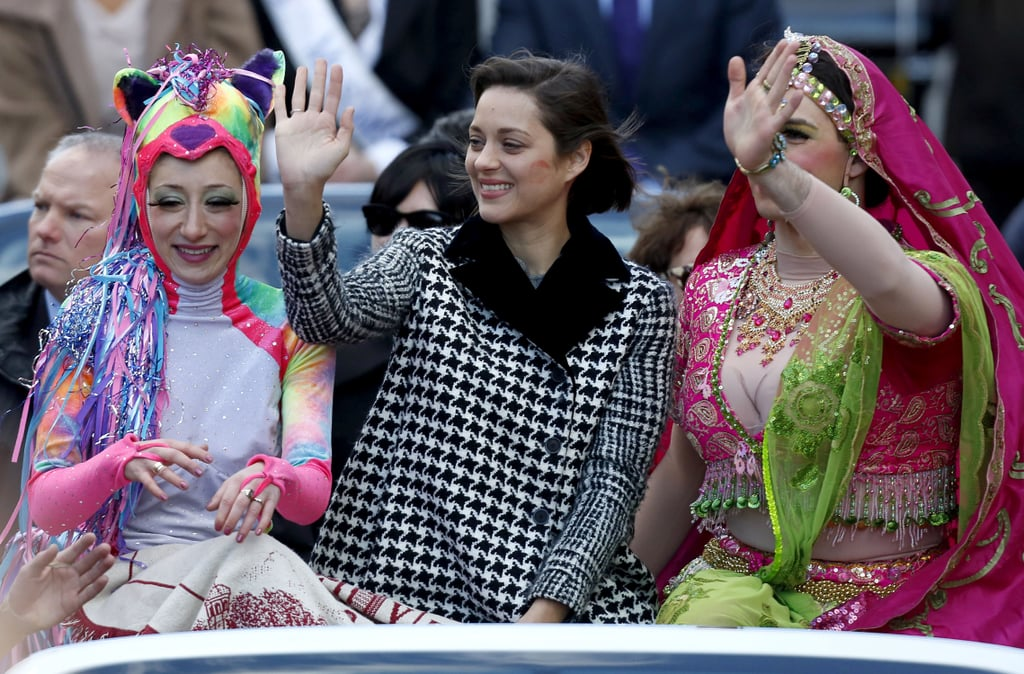 Marion Cotillard smiled in Boston during a parade she was honored at on Thursday.