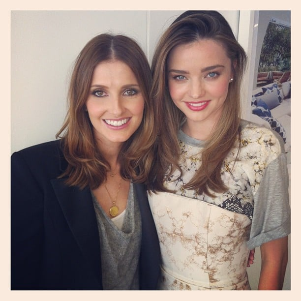 Kate Waterhouse had lunch with Miranda Kerr, and shared this happy snap afterwards. Source: Instagram user katewaterhouse7